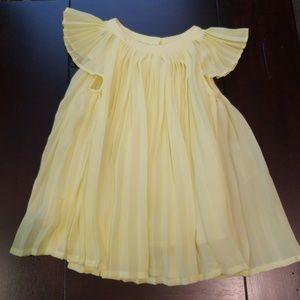 babyGap yellow pleated dress